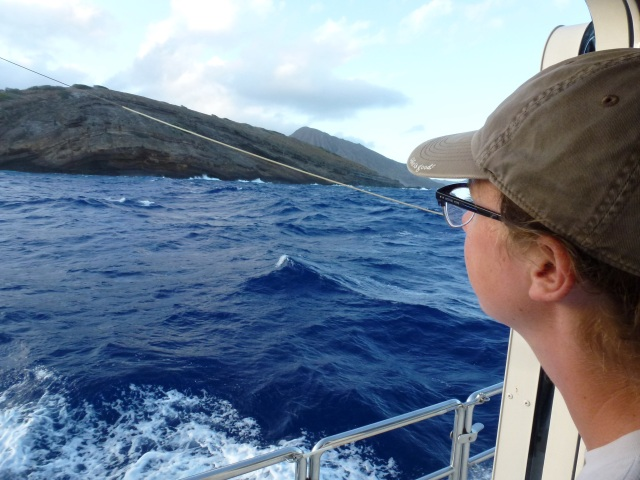 Passing by Koko Head and out toward the Molokai Channel.